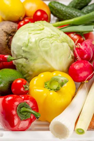 Fresh vegetables background, close up