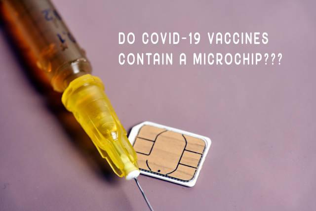 Do COVID-19 vaccines contain a microchip?
