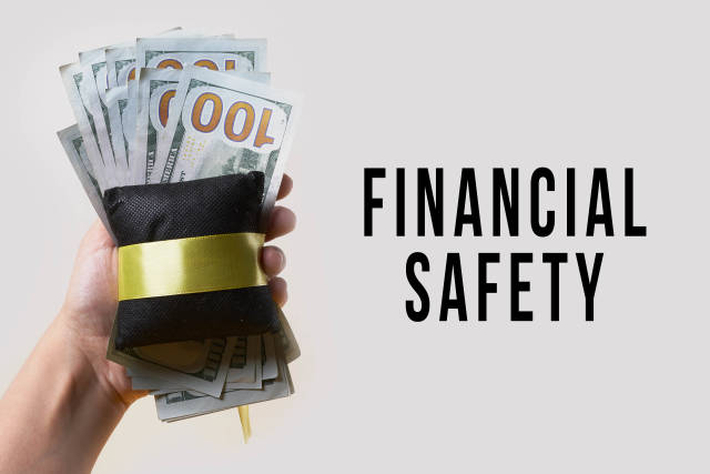 Financial safety, Safety bag for money concepts