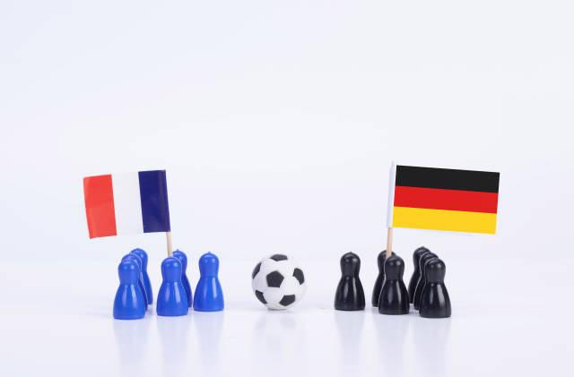 Football match France Vs. Germany