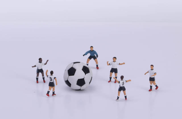 Football players on white background