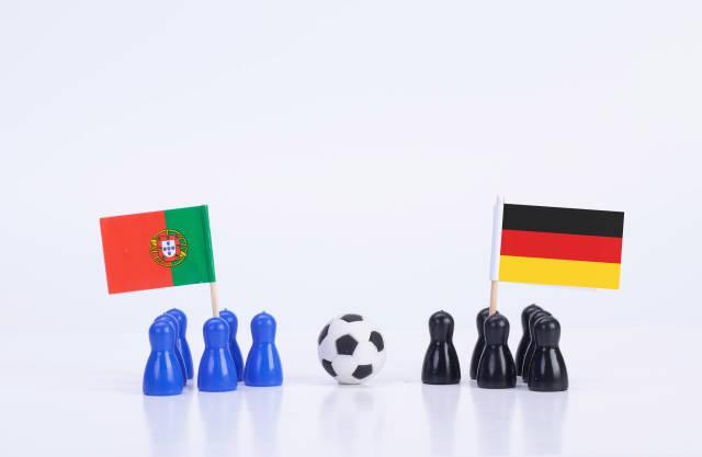 Football match Portugal Vs. Germany