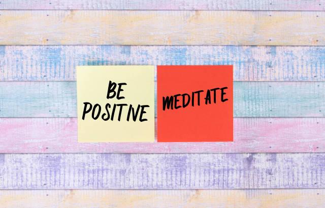 Be Positive, Meditate - sticky notes set