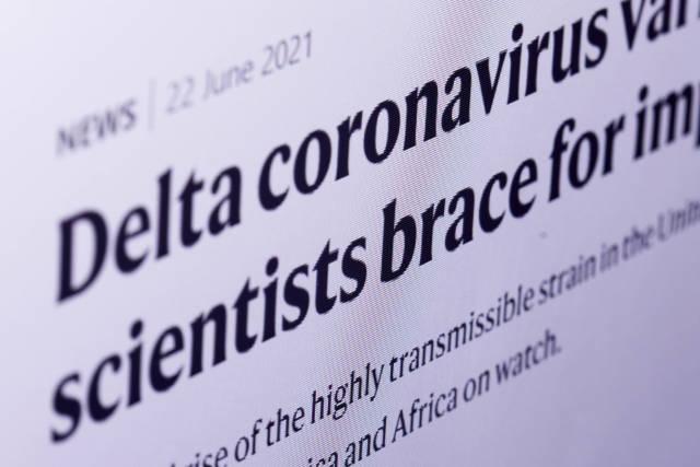 Reading an article on internet about Delta plus coronavirus variant