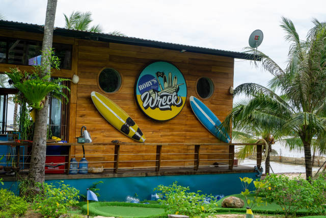 Rorys Beach Club Wreck House with Bar, Mini Golf and Natural Swimming Pool on Phu Quoc Island, Vietnam