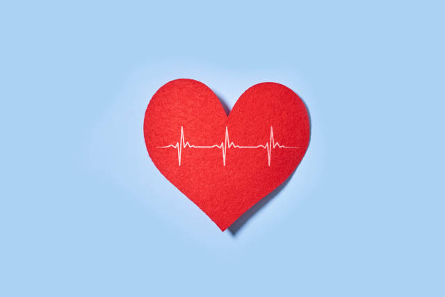Red heart with heart pulse