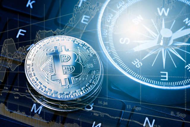 Bitcoin mit Kompass