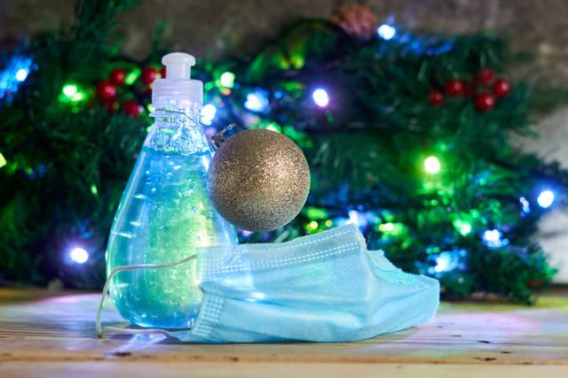 Desinfektionsgel zu Weihnachten