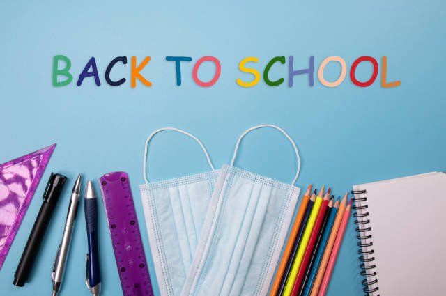 School supplies with Back to School text