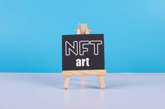 Painting art board with NFT Art text