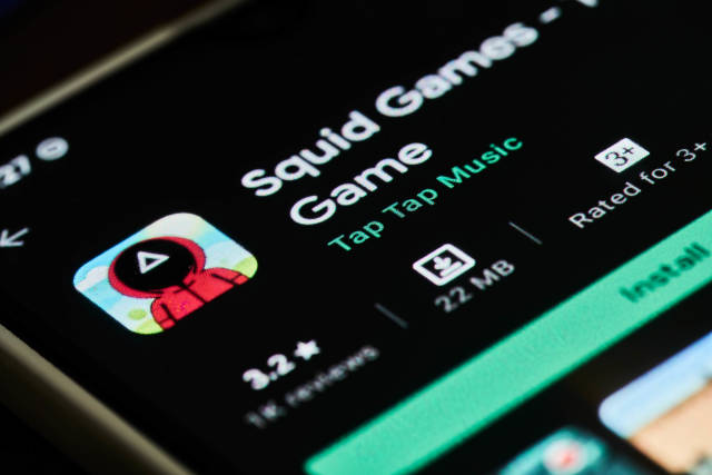 Mobile game application of popular Squid games show